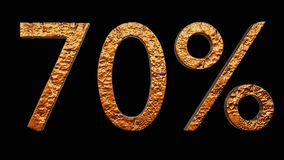 ouro 70% 3d Imagens de Stock Royalty Free