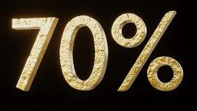 ouro 70% 3d Fotografia de Stock