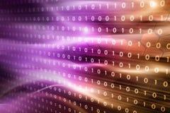 Ouro da cor-de-rosa do código binário ilustração stock