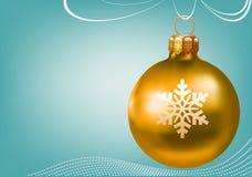 Ouro da esfera do Natal Fotos de Stock Royalty Free