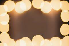 Ouro da laranja da cor dos fundos de Bokeh Foto de Stock Royalty Free