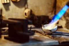 Ouro da soldadura do joalheiro Imagem de Stock