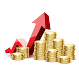 Ouro de moedas Fotografia de Stock