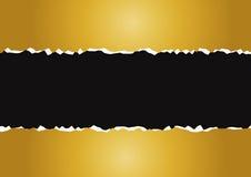Ouro de papel rasgado Fotografia de Stock Royalty Free