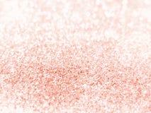 Ouro de Rosa - textura do fundo do brilho Foto de Stock