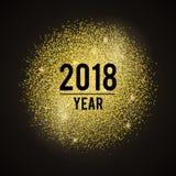 Ouro do ano Fotografia de Stock Royalty Free