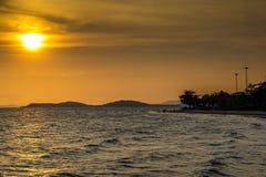 Ouro do céu do mar imagens de stock