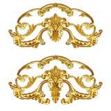 Ouro do Cartouche Foto de Stock Royalty Free