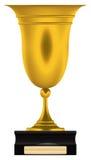 Ouro do copo do troféu imagem de stock royalty free