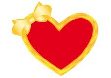 Ouro do coração Foto de Stock