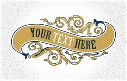 Ouro do emblema do vintage Imagens de Stock Royalty Free