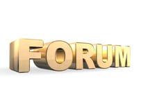 Ouro do fórum 3d Foto de Stock Royalty Free