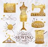 Ouro do símbolo da costura Foto de Stock