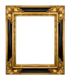 Ouro do vintage e frame ornamentado preto do piano Imagem de Stock Royalty Free
