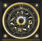 Ouro do zodíaco fotografia de stock