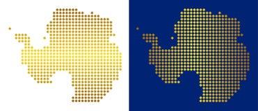 Ouro Dot Antarctica Map ilustração stock