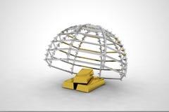 Ouro e armadilha Imagem de Stock