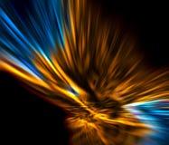 Ouro e azul abstratos Imagens de Stock