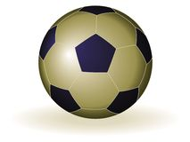 Ouro e azul da esfera de futebol ilustração do vetor