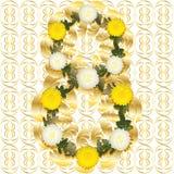 Ouro e branco 8. Foto de Stock