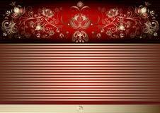 Ouro e cartão de easter vermelho do vintage ilustração royalty free