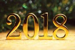 Ouro 2018 e decoração fotografia de stock royalty free