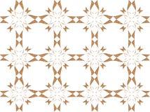 Ouro e design floral branco ilustração do vetor