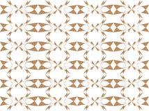 Ouro e design floral branco ilustração stock