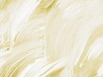 Ouro e fundo pintado à mão abstrato branco, paintin acrílico Imagens de Stock