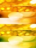 Ouro e luzes de Natal alaranjadas Fotografia de Stock