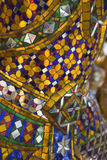 Ouro e mosaico colorido Fotografia de Stock Royalty Free