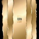 Ouro e papel rasgado preto Imagens de Stock