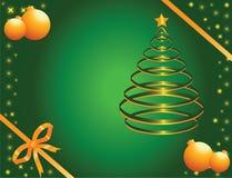 Ouro e pinho verde Fotografia de Stock Royalty Free