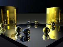 Ouro e prata Imagens de Stock