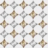 Ouro e prata sem emenda do teste padrão Imagens de Stock Royalty Free