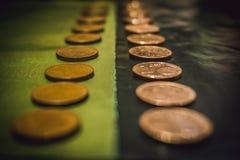 Ouro e preto Foto de Stock Royalty Free