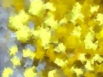 Ouro e projeto amarelo do cubismo ilustração stock