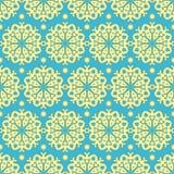 Ouro e teste padrão azul Imagem de Stock Royalty Free