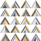 Ouro e teste padrão sem emenda geométrico cinzento ilustração do vetor