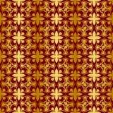 Ouro e teste padrão sem emenda regular metálico vermelho Fotografia de Stock Royalty Free