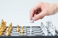Ouro e xadrez de prata fotos de stock royalty free