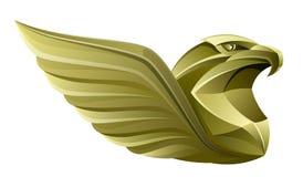 Ouro Eagle ilustração stock