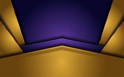 Ouro elegante e fundo luxuoso roxo ilustração royalty free