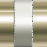Ouro elegante e fundo marrom Imagens de Stock