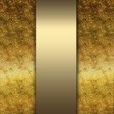 Ouro elegante e fundo marrom Fotografia de Stock