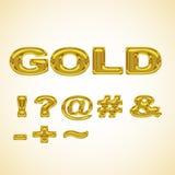 Ouro estilizado dos símbolos Imagens de Stock Royalty Free