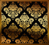 Ouro floral sem emenda do fundo Imagem de Stock