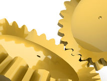 Ouro gears Foto de Stock Royalty Free