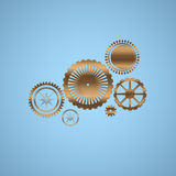 Ouro gears Imagens de Stock Royalty Free