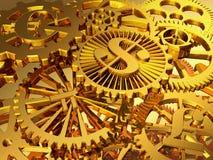 Ouro gears Fotos de Stock